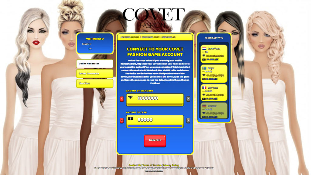 Covet Fashion Cheats Hack | Mobile Game Tricks