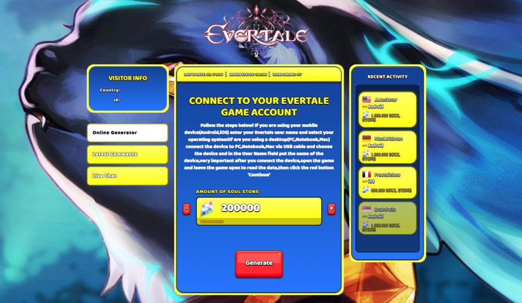 evertale-cheats