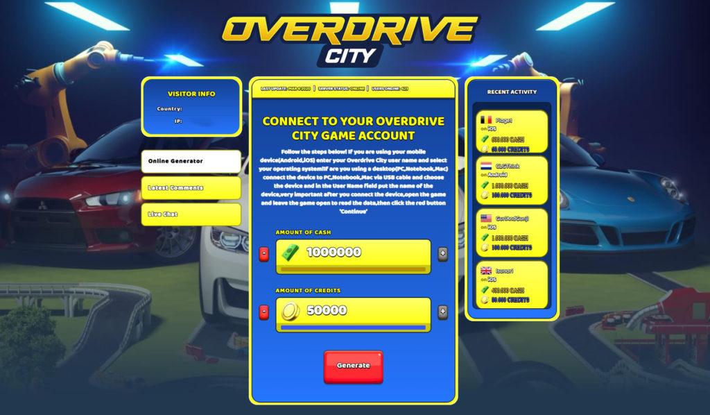 overdrive-city-cheats