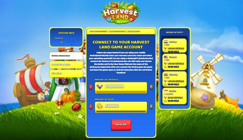 harvest-land-cheats