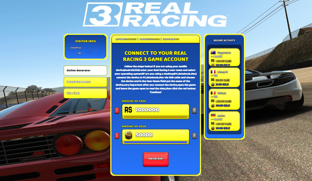 Real Racing 3 Hack - Get Free gold! Generate …
