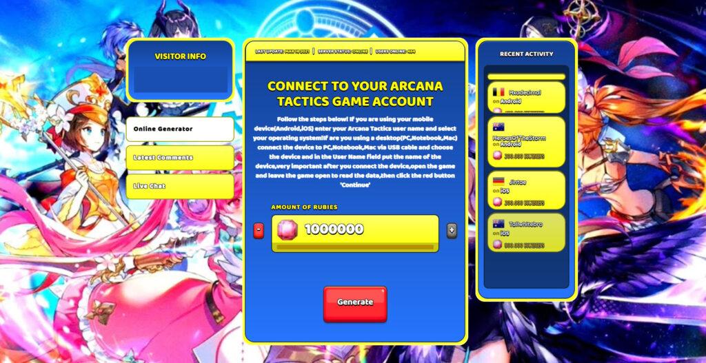 arcana-tactics-cheat